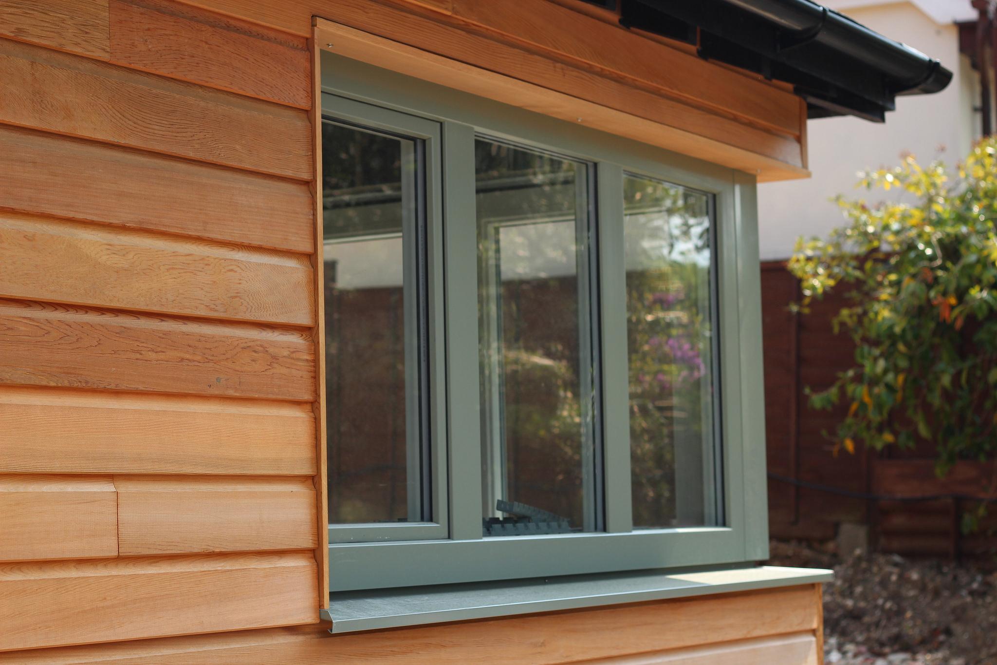 Coloured wooden windows