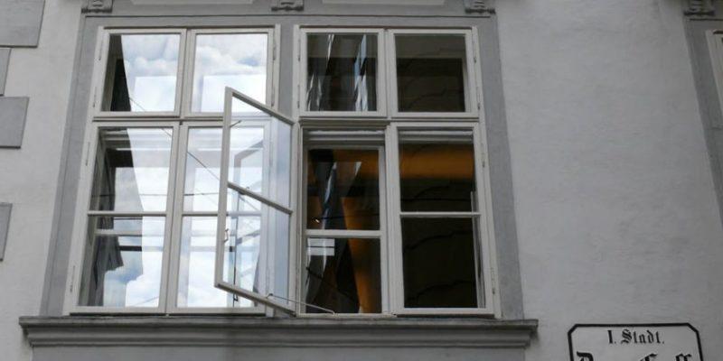 An open casement window