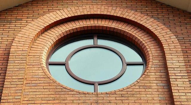 contemporary circular window