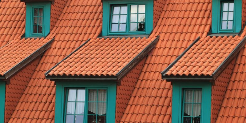 A row of roof windows